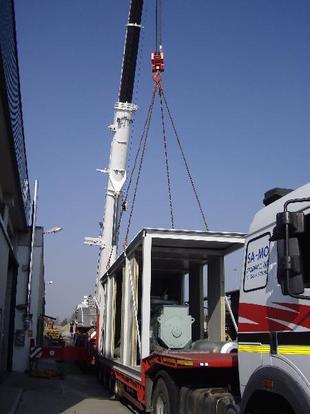 Impianto di cogenerazione - Nervesa - Posizionamento container